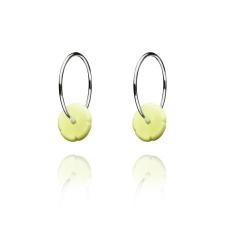 Elements silver hoop earrings