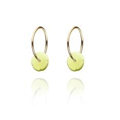 Elements gold hoop earrings
