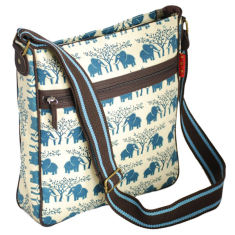 Tamelia cotton canvas Ellie messenger bag