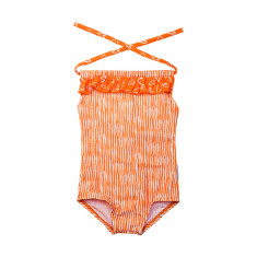 Girls' one-piece swimmers in Love Stripe Popsicle