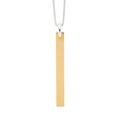 Fine Gold Bar Drop Necklace