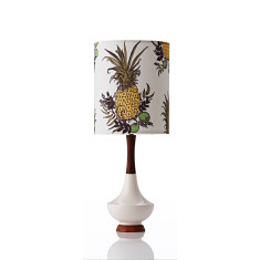 Electra small table lamp in pineapple botanical