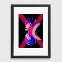 Electric pineapple xo art print