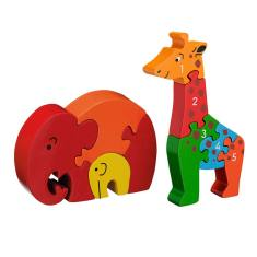 Elephant and giraffe jigsaw value pack
