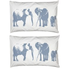 Elephant family pillowcases (set of 2)