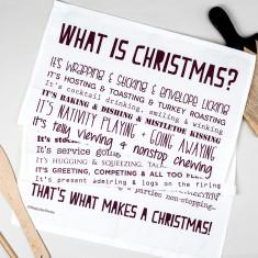 What is Christmas? Poem tea towel