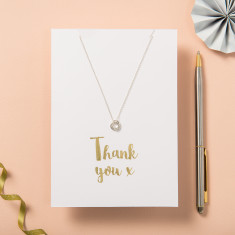 Thank You Card And Necklace Set