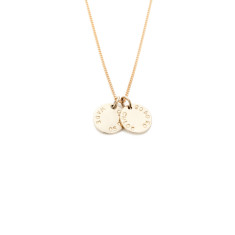 Elizabeth 9ct personalised pendant in yellow, rose or white gold