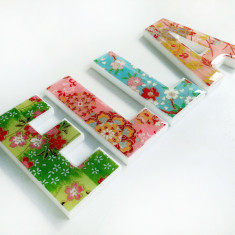 Personalised girls' decor letters (price per letter)