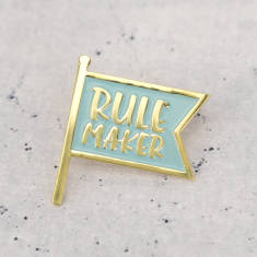 Rule Maker Enamel Pin Badge