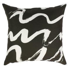 Indoor Cushion in Black & White Sketch