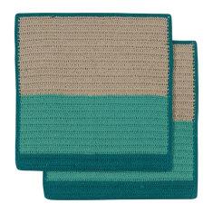 Sasha crochet dishcloth in jungle (set of 2)