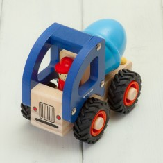 Children's Wooden Cement Mixer Truck