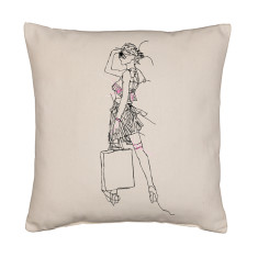 Deco shopper cushion
