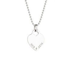 Emma personalised sterling silver pendant