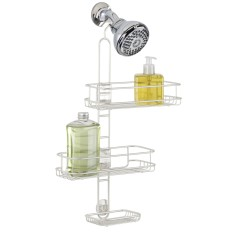 Interdesign linear shower caddy in pearl white