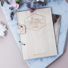 Personalised Mid Century Style Guest Book