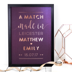 Personalised Foil Print - A Match Made In...