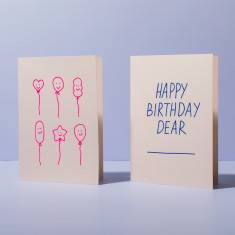 Blush birthday card pack - set of 2