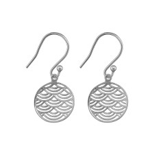 Fan earring in silver