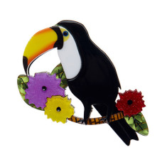 Erstwilder Toco of the tropics brooch