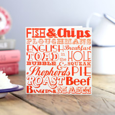 English dinner greeting card (pack of 6)