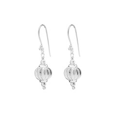 Anaar bead earrings in silver