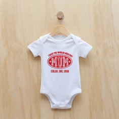 I have the greatest.. varsity Personalised bodysuit