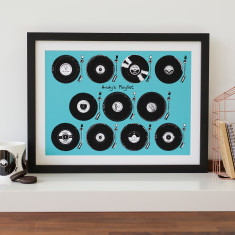 Personalised Vinyl Playlist Print