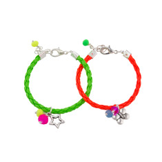 Neon friendship bracelets (set of 2)