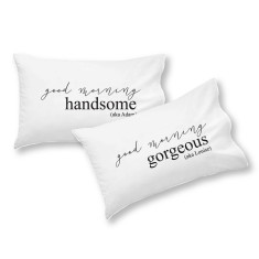 Good morning personalised pillowcase set