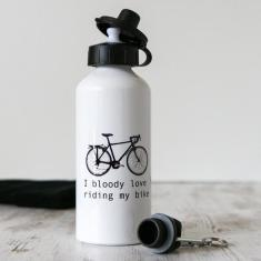 I Bloody Love Riding My Bike - Water Bottle