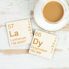 LaDy Periodic Table wooden coasters set