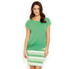 Short Skirt Striped- Evergreen