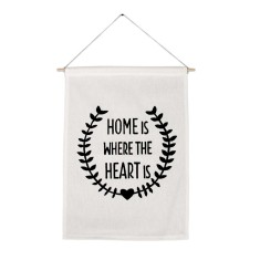 Home is where the heart is handmade wall banner