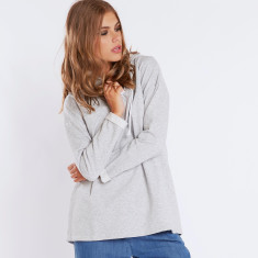 Oversized lace up sweatshirt