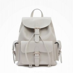 White leather rucksack