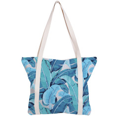 Beach Bag Banana Leaf Aqua