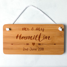 Personalised Bamboo Wedding Sign