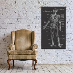Le Squelette Linen Wall Hanging