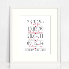 Our grandchildren personalised print