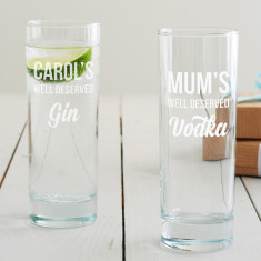 Personalised 'Well Deserved' Hi Ball Glass