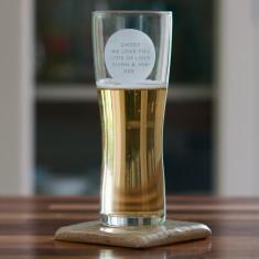 Personalised Pint Beer Glass