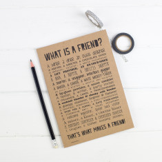 Friend poem slim notebook