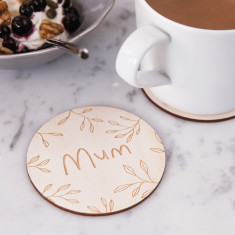 Personalised floral drinks coaster