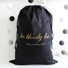 Ho Bloody Ho! Personalised Christmas Sack