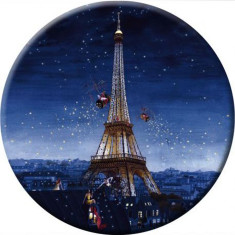 Eiffel Tower at night pocket mirror