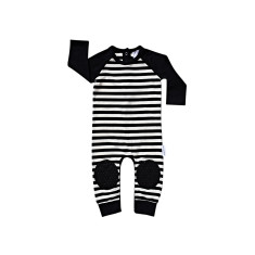 Black Stripe Crawl-suit