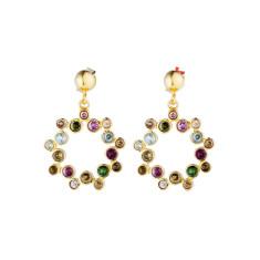 Charlotte drop earrings in gold plate