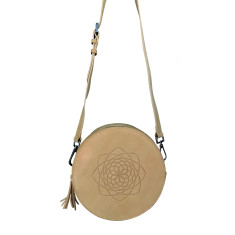 Paloma Bag - Tan Fibbonaci Embossed